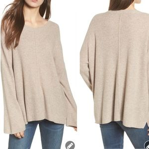 Madewell Northroad pullover sweater tan wool 6613